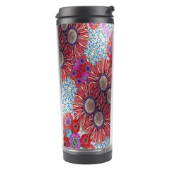 Floral Flower Wallpaper Created From Coloring Book Colorful Background Travel Tumbler