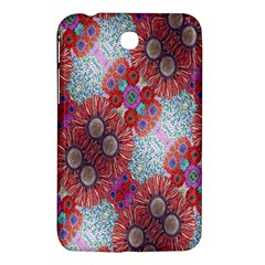 Floral Flower Wallpaper Created From Coloring Book Colorful Background Samsung Galaxy Tab 3 (7 ) P3200 Hardshell Case