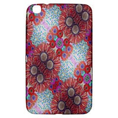 Floral Flower Wallpaper Created From Coloring Book Colorful Background Samsung Galaxy Tab 3 (8 ) T3100 Hardshell Case