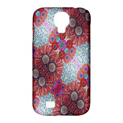Floral Flower Wallpaper Created From Coloring Book Colorful Background Samsung Galaxy S4 Classic Hardshell Case (PC+Silicone)