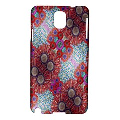 Floral Flower Wallpaper Created From Coloring Book Colorful Background Samsung Galaxy Note 3 N9005 Hardshell Case