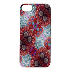 Floral Flower Wallpaper Created From Coloring Book Colorful Background Apple Iphone 5s/ Se Hardshell Case