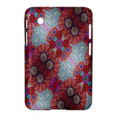Floral Flower Wallpaper Created From Coloring Book Colorful Background Samsung Galaxy Tab 2 (7 ) P3100 Hardshell Case