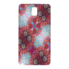 Floral Flower Wallpaper Created From Coloring Book Colorful Background Samsung Galaxy Note 3 N9005 Hardshell Back Case