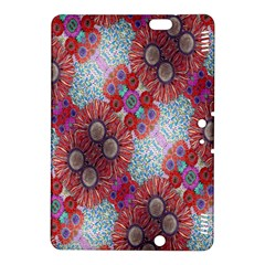 Floral Flower Wallpaper Created From Coloring Book Colorful Background Kindle Fire HDX 8.9  Hardshell Case