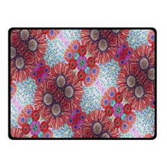 Floral Flower Wallpaper Created From Coloring Book Colorful Background Double Sided Fleece Blanket (Small)