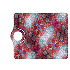 Floral Flower Wallpaper Created From Coloring Book Colorful Background Kindle Fire HDX 8.9  Flip 360 Case