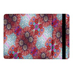 Floral Flower Wallpaper Created From Coloring Book Colorful Background Samsung Galaxy Tab Pro 10.1  Flip Case