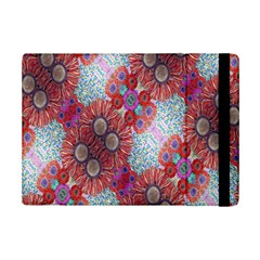 Floral Flower Wallpaper Created From Coloring Book Colorful Background iPad Mini 2 Flip Cases