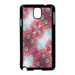 Floral Flower Wallpaper Created From Coloring Book Colorful Background Samsung Galaxy Note 3 Neo Hardshell Case (Black)