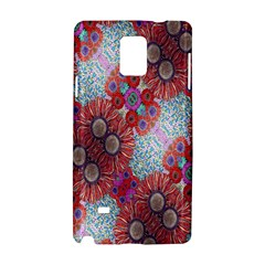 Floral Flower Wallpaper Created From Coloring Book Colorful Background Samsung Galaxy Note 4 Hardshell Case