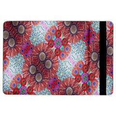 Floral Flower Wallpaper Created From Coloring Book Colorful Background iPad Air 2 Flip