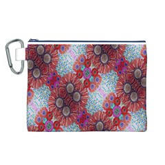 Floral Flower Wallpaper Created From Coloring Book Colorful Background Canvas Cosmetic Bag (L)