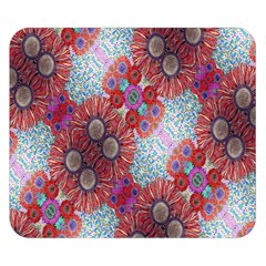Floral Flower Wallpaper Created From Coloring Book Colorful Background Double Sided Flano Blanket (Small)
