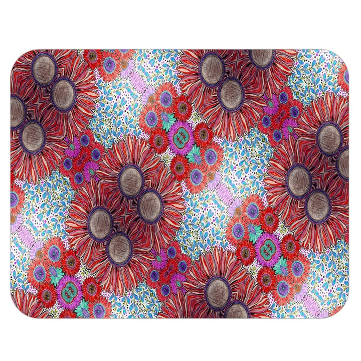 Floral Flower Wallpaper Created From Coloring Book Colorful Background Double Sided Flano Blanket (Medium)