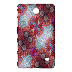 Floral Flower Wallpaper Created From Coloring Book Colorful Background Samsung Galaxy Tab 4 (8 ) Hardshell Case