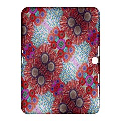 Floral Flower Wallpaper Created From Coloring Book Colorful Background Samsung Galaxy Tab 4 (10 1 ) Hardshell Case
