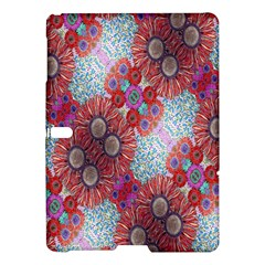 Floral Flower Wallpaper Created From Coloring Book Colorful Background Samsung Galaxy Tab S (10.5 ) Hardshell Case