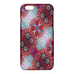 Floral Flower Wallpaper Created From Coloring Book Colorful Background iPhone 6/6S TPU Case