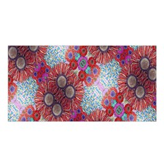 Floral Flower Wallpaper Created From Coloring Book Colorful Background Satin Shawl