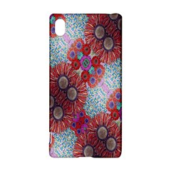 Floral Flower Wallpaper Created From Coloring Book Colorful Background Sony Xperia Z3+