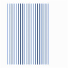 Mattress Ticking Narrow Striped Pattern in Dark Blue and White Small Garden Flag (Two Sides)