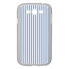 Mattress Ticking Narrow Striped Pattern in Dark Blue and White Samsung Galaxy Grand DUOS I9082 Case (White)