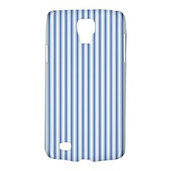 Mattress Ticking Narrow Striped Pattern in Dark Blue and White Galaxy S4 Active