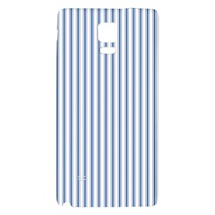 Mattress Ticking Narrow Striped Pattern in Dark Blue and White Galaxy Note 4 Back Case