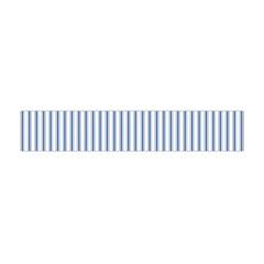 Mattress Ticking Narrow Striped Pattern in Dark Blue and White Flano Scarf (Mini)
