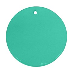 Tiffany Aqua Blue Solid Color Ornament (Round)