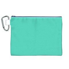 Tiffany Aqua Blue Solid Color Canvas Cosmetic Bag (XL)
