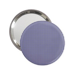 USA Flag Blue and White Gingham Checked 2.25  Handbag Mirrors