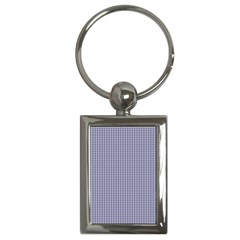 USA Flag Blue and White Gingham Checked Key Chains (Rectangle)