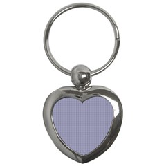 USA Flag Blue and White Gingham Checked Key Chains (Heart)