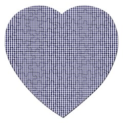 USA Flag Blue and White Gingham Checked Jigsaw Puzzle (Heart)