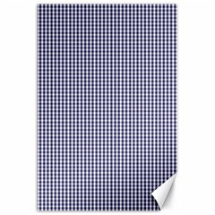 USA Flag Blue and White Gingham Checked Canvas 20  x 30