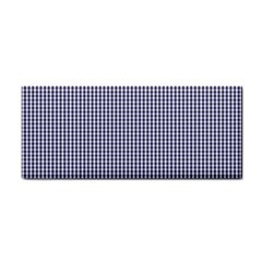 USA Flag Blue and White Gingham Checked Cosmetic Storage Cases