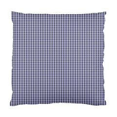 USA Flag Blue and White Gingham Checked Standard Cushion Case (Two Sides)