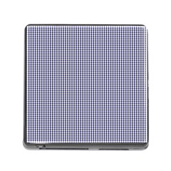 USA Flag Blue and White Gingham Checked Memory Card Reader (Square)