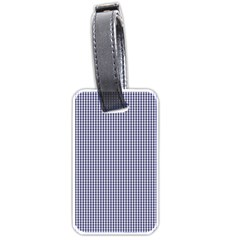 USA Flag Blue and White Gingham Checked Luggage Tags (Two Sides)