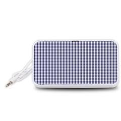 USA Flag Blue and White Gingham Checked Portable Speaker (White)