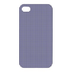 USA Flag Blue and White Gingham Checked Apple iPhone 4/4S Hardshell Case