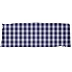 USA Flag Blue and White Gingham Checked Body Pillow Case Dakimakura (Two Sides)