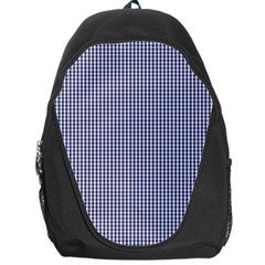 USA Flag Blue and White Gingham Checked Backpack Bag