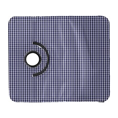 USA Flag Blue and White Gingham Checked Galaxy S3 (Flip/Folio)