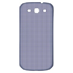 USA Flag Blue and White Gingham Checked Samsung Galaxy S3 S III Classic Hardshell Back Case