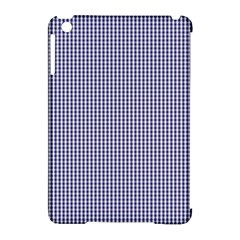 USA Flag Blue and White Gingham Checked Apple iPad Mini Hardshell Case (Compatible with Smart Cover)