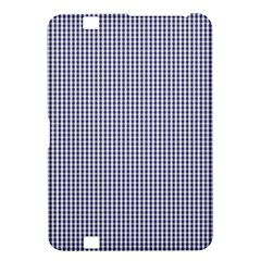 USA Flag Blue and White Gingham Checked Kindle Fire HD 8.9