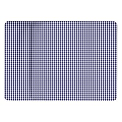 USA Flag Blue and White Gingham Checked Samsung Galaxy Tab 10.1  P7500 Flip Case